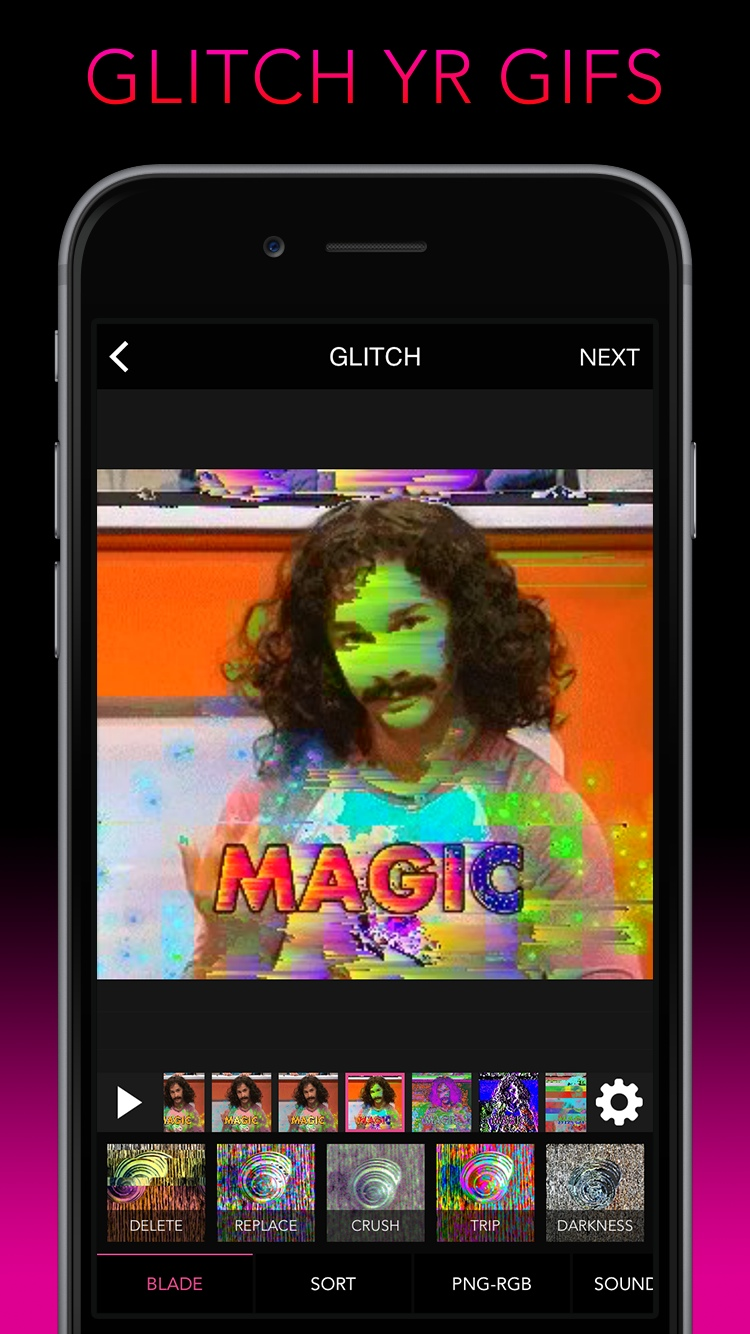 Glitch Wizard: Distort your photos.