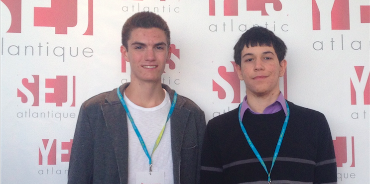 Alex Gillis, left, and Aristides Milios: Helping businesses track their customers.