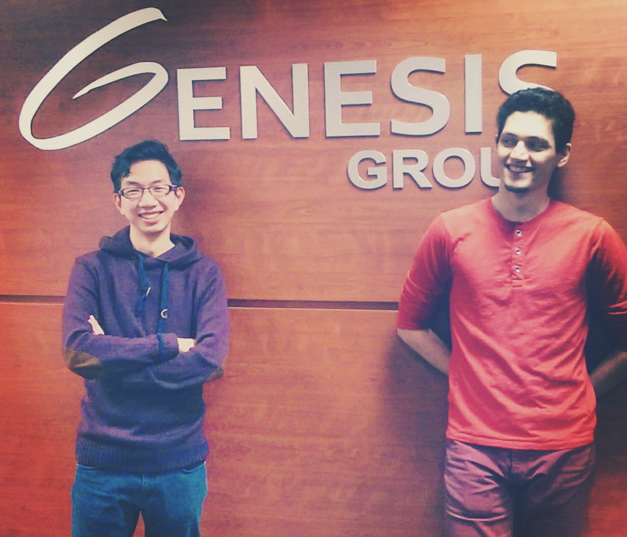 Joseph Teo, left, and Sahand Seifi at the Genesis Centre