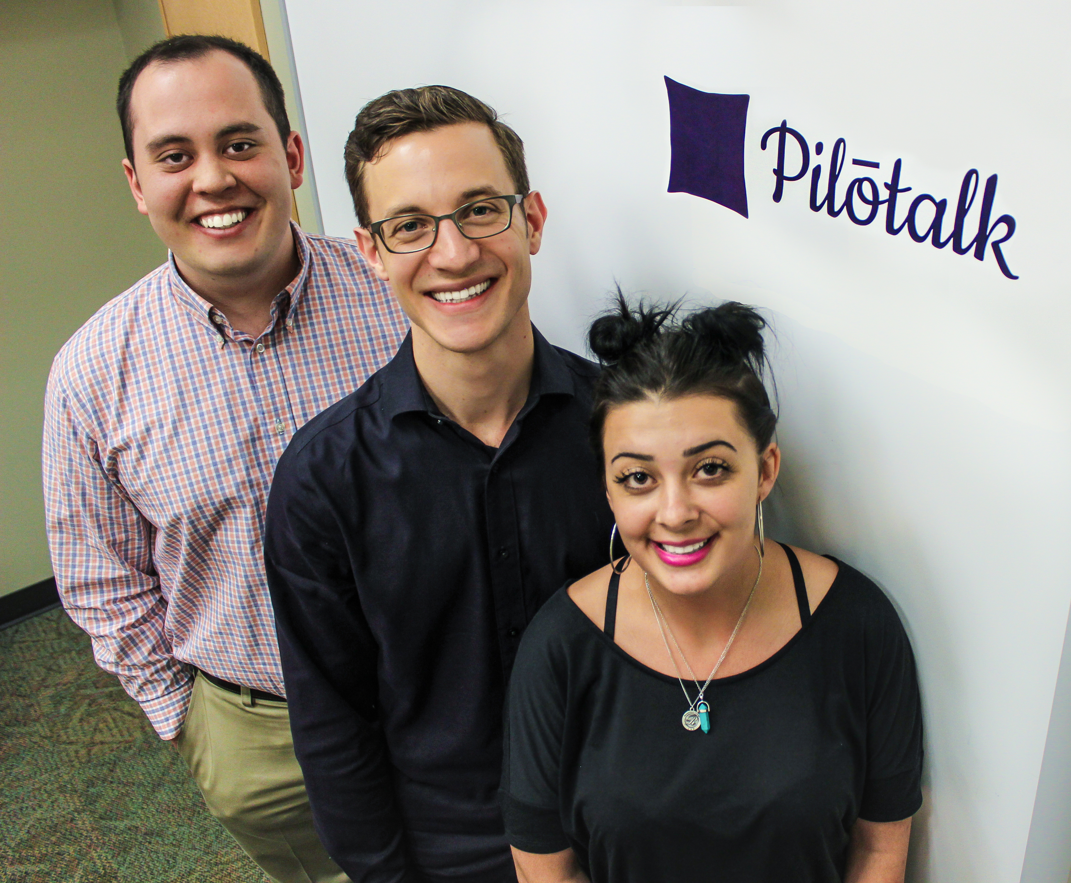 Tom Creagh, left, Alex Kall and Carissa Boer have formed Pilotalk.